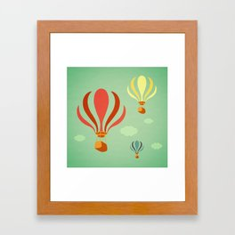 Hot Air Balloon Ride Framed Art Print