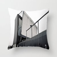 theater Throw Pillows featuring Theater angle by Vorona Photography