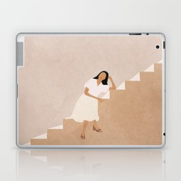 Girl Thinking on a Stairway Laptop & iPad Skin