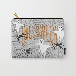 Ghost Halloween Spider Carry-All Pouch