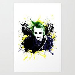 The Crow and Joker Mashup Art Print