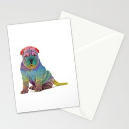 Colorful Sharpei Stationery Cards