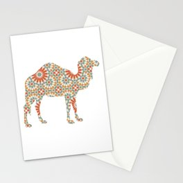 CAMEL SILHOUETTE WITH PATTERN Stationery Cards