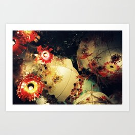 Festa lights Art Print