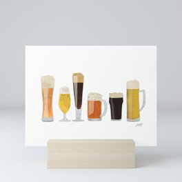 Beer Mugs Mini Art Print