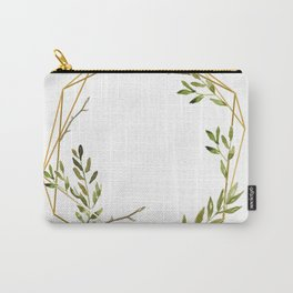 Geometrical frame with leaves Carry-All Pouch