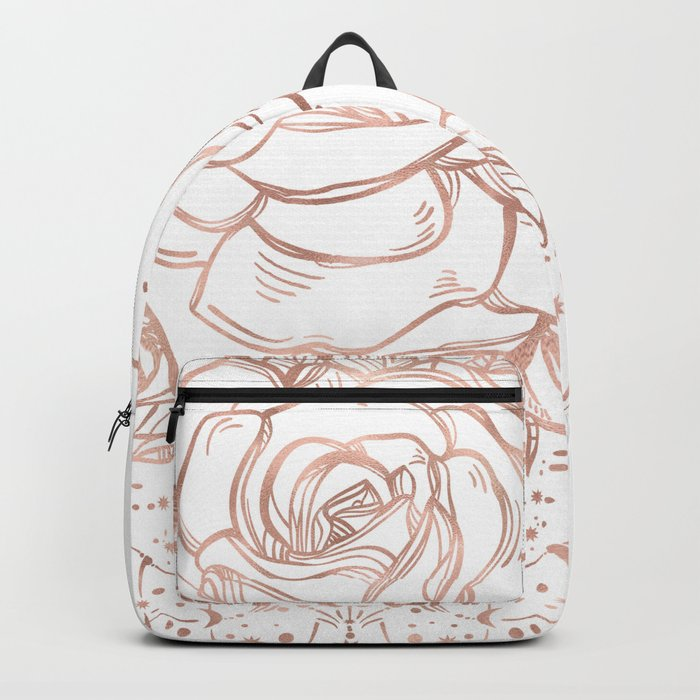 Mandala Lunar Rose Gold Backpack
