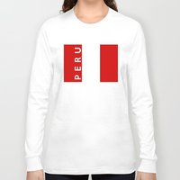 peru Long Sleeve T-shirts featuring flag of Peru by tony tudor