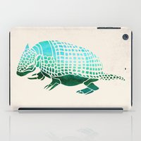 reassurance iPad Cases featuring Watercolor Armadillo by Jacqueline Maldonado
