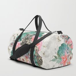 FLORAL OWL Duffle Bag