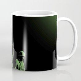 Plastic Army Man Battalion Black and Green Coffee Mug