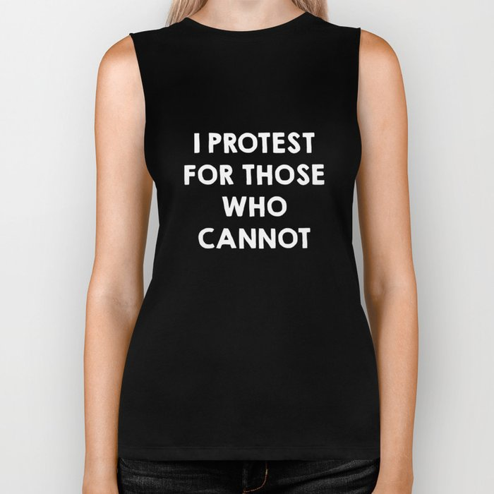 I protest for those who cannot - purple Biker Tank
