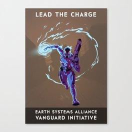 Mass Effect 3- Vanguard Propaganda Canvas Print