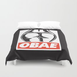 OBAE the booty. Duvet Cover