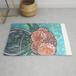 Orange Bloosoms Rug