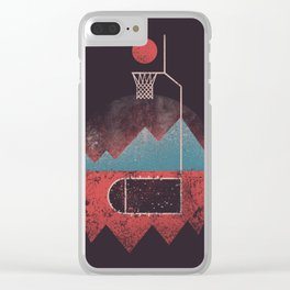 Never Give Up The Hoop Clear iPhone Case