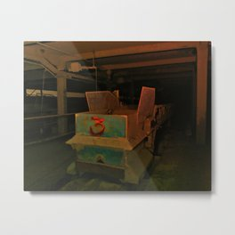 Mine Cart - Filtered Metal Print