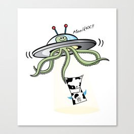Muso vs Alien Canvas Print