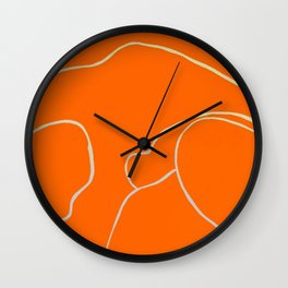 Lined - Orange Wall Clock