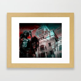 Statue (with holga effect) Framed Art Print