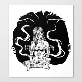 floating witch Canvas Print