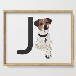J is for Jack Russell Terrier Serving Tray