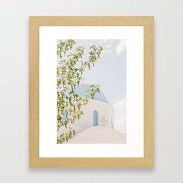 Greek Church Framed Art Print