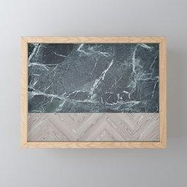 wood stone Framed Mini Art Print