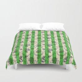 Stripes & Shells - green Duvet Cover