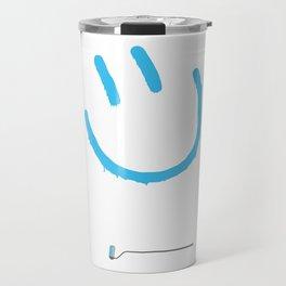 Street Art Happy Face Travel Mug