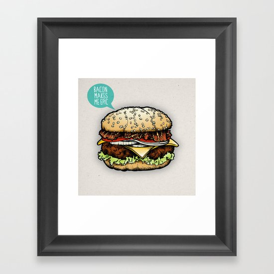 Epic Burger Framed Art Print