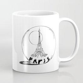 Paris in a glass ball .  City art, Decorative Prints, altwall, Home Decor Graphicdesign Coffee Mug