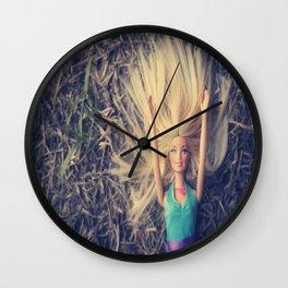 New Plastic Girl Wall Clock