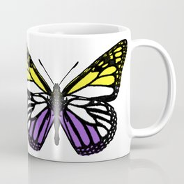 Nonbinary/Enby Pride Butterfly Coffee Mug