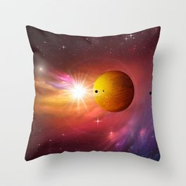 Star dust and interstellar gas. Throw Pillow