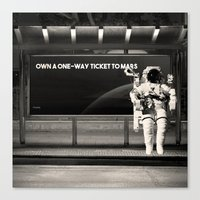 astronaut Canvas Prints featuring Astronaut by eARTh