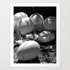 Life Finds a Way (black and white) Art Print