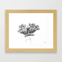 Wing Demons Framed Art Print