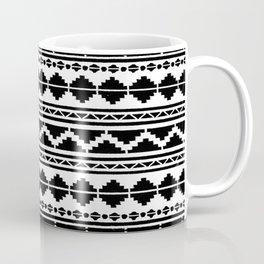 12 - Moroccan Black and White Traditional Bohemian Artwork. Coffee Mug
