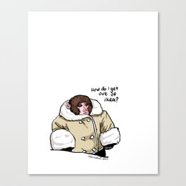 Baby Ikea Monkey Canvas Print