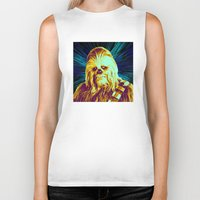 chewbacca Biker Tanks featuring Chewbacca by victorygarlic