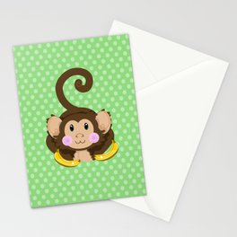Cute Monkey Stationery Cards