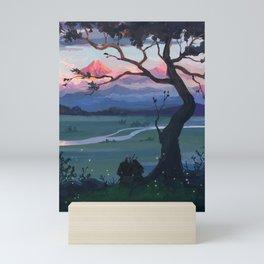 the tree when we sat once Mini Art Print