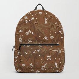 Chocolate Mocha Paw Prints Backpack