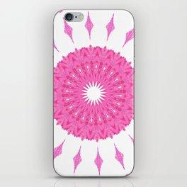 PINK AND WHITE CIRCLES MANDALA iPhone Skin