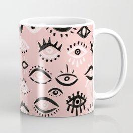 Mystic Eyes – Blush & Black Palette Coffee Mug