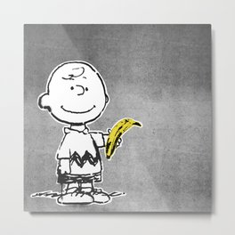 Is that a banana, or are you just glad to see me? Metal Print