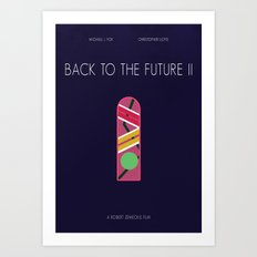 BTTF 2 minimalist poster Art Print