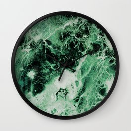 Green Marble Wall Clock