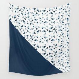 Indigo Triangles #society6 #pattern #indigo Wall Tapestry